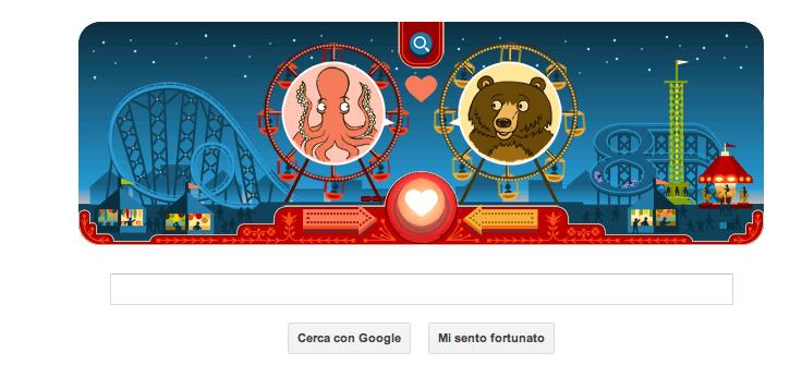 Polipo e Orso Doodle San Valentino 2013