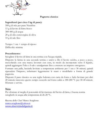 Ricetta Pagnotta Classica